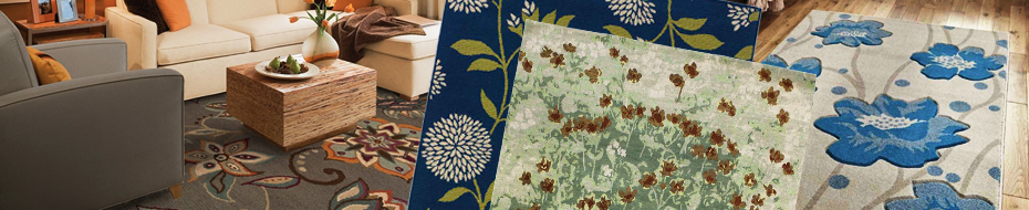 Floral Botanical Area Rugs