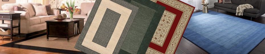 Bordered and Solid Rugs