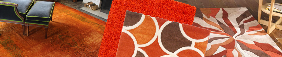 Orange And Rust Rugs