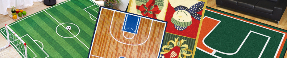 Novelty Seasonal Sports Rugs