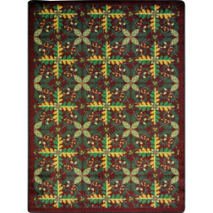 Joy Carpet - Tahoe Kaleidoscope - Whimsical Area Rugs Burgundy