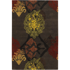 Chandra Dharma DHA-7503 Dark Brown/Orange/Red/Green/Yellow