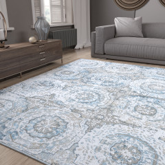 Tayse Rugs Emerson Stephanie EMR1500 Blue