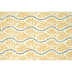 The Rug Market Coral Cascades 25439D Yllw Gray White