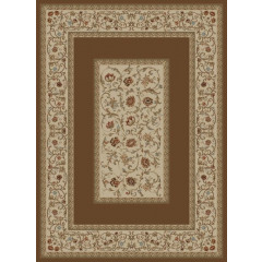 Concord Global - Ankara FLORAL BORDER Brown