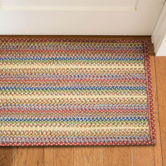 Homespice Rugs-Ultra Durable Braided Slims-Venice-Red