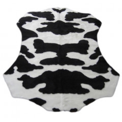 Walk On Me - Faux Fur Cow Hide Black And White
