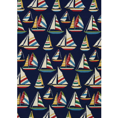 Couristan Rugs OUTDOOR ESCAPE YACHTING 68568252 NAVY