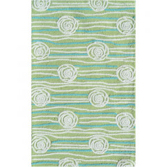 The Rug Market Rosalita 71133B Grn White Teal