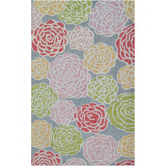 The Rug Market Multi 16488B Gray Pink Green