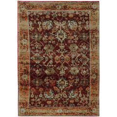 Oriental Weavers Rugs ANDORRA A7154A Red/ Gold