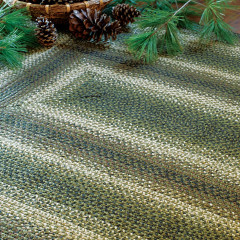 Homespice Rugs-Jute Braided Accessories-Pinecone-Green