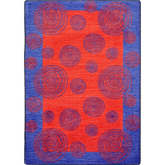 Joy Carpet - Whimzi Kid Essentials - Teen Area Rugs Red
