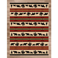 American Dakota Rugs National Park 0142RED Red
