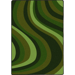 Joy Carpet - On The Curve Kid Essentials - Teen Area Rugs Green