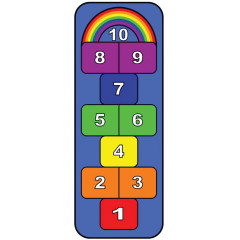 Learning Carpet - Play Rainbow Hopscotch  Multi