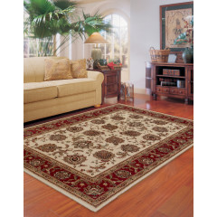 Oriental Weavers Rugs ARIANA A117J3 Ivory/ Red