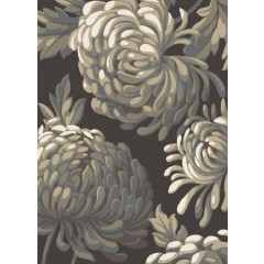 Concord Global - New Casa FLOWERS Brown