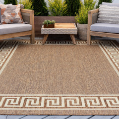 Tayse Rugs Eco Giovanna ECO1003 Brown