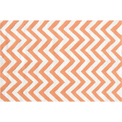 The Rug Market Chevron 25609B Tangerine White
