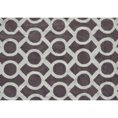 The Rug Market Medal Pa0078 Taupe White