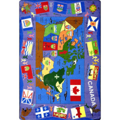 Joy Carpet - Flags Of Canada Kid Essentials - Geography & Environment Multi