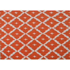 The Rug Market Tangier Pa0058 Orange White
