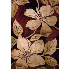 United Weavers Of America - Contours Floral Canvas Burgundy