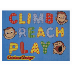 Fun Rugs - Curious George Cg-02 Multi-Color
