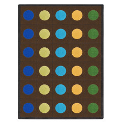 Joy Carpet - Lots Of Dots Kid Essentials - Early Childhood Earthtone