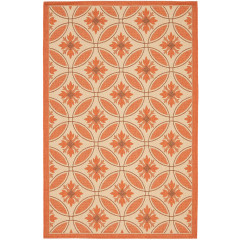 Safavieh - Courtyard CY7844 Cream-Terracotta