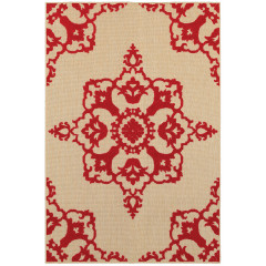 Oriental Weavers Rugs CAYMAN C097R9 Sand/ Red