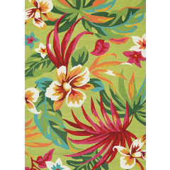 Couristan Rugs COVINGTON PAINTED FERN 40984071 FERN/RED