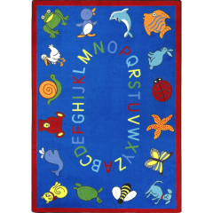 Joy Carpet - Abc Animals Kid Essentials - Early Childhood Blue