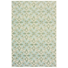 Oriental Weavers Rugs BARBADOS B5994J Ivory/ Green