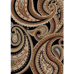 Mayberry Rugs Home Town HT7293 Deco Paisley Ebony