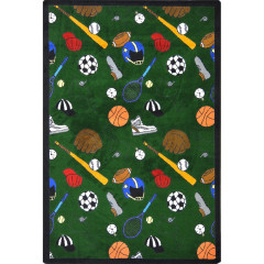 Joy Carpet - Multi-Sport Games People Play - Gaming & Sports Area Rugs Green