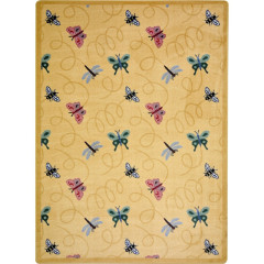 Joy Carpet - Wing Dings Kaleidoscope - Whimsical Area Rugs Gold