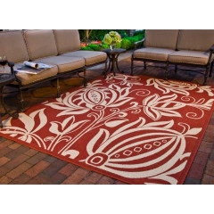 Safavieh - Courtyard CY2961 Red-Natural