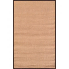 The Rug Market Brown Border 23322D Tan Brown