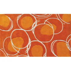The Rug Market Lysander 72412D Orange White