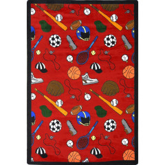 Joy Carpet - Multi-Sport Games People Play - Gaming & Sports Area Rugs Red