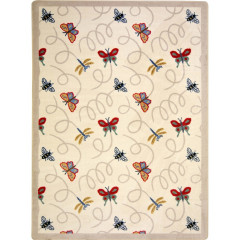 Joy Carpet - Wing Dings Kaleidoscope - Whimsical Area Rugs Beige