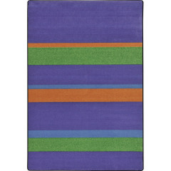Joy Carpet - Straight And Narrow Kid Essentials - Teen Area Rugs Violet