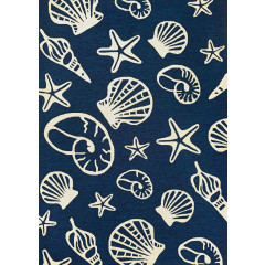 Couristan Rugs OUTDOOR ESCAPE CARDITA SHELLS 73340313 NAVY/IVORY