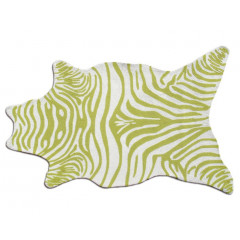 The Rug Market Zebra 25256D Green White