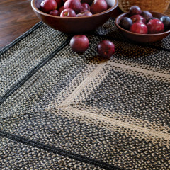 Homespice Rugs-Jute Braided Accessories-Manchester-Black