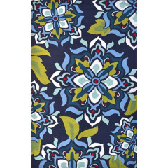 The Rug Market Andalucia 25481A Navy Blue