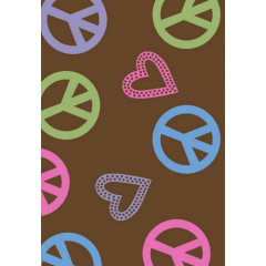 Concord Global - Alisa PEACE POLKA HEARTS Brown
