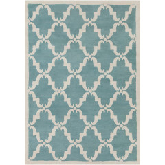 Chandra Davin DAV-25827 Light Aqua/White
